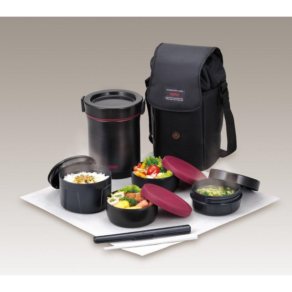 thermos hot lunch heat retention lunch bento box set jbe 1600f. Black Bedroom Furniture Sets. Home Design Ideas