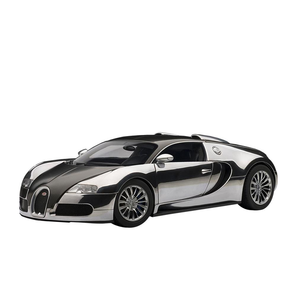 bugatti veyron pur sang black aluminium 1 18 auto art. Black Bedroom Furniture Sets. Home Design Ideas