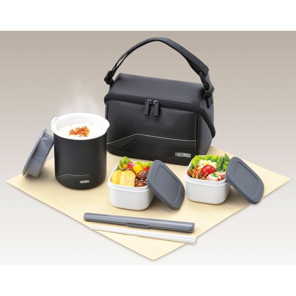 thermos thermal insulated lunch box dbq 501 keep warm bento japan f s new ebay. Black Bedroom Furniture Sets. Home Design Ideas