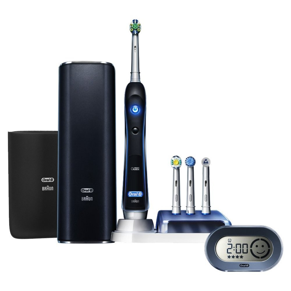 The also comes with a pretty snazzy looking travel case too, so is perfect for you to take on the go (more about this in the accessories section below). Brush Heads. Precision Oral B Mini Specialised Brush Head (flossing) Precision Oral B Mini Specialised Brush Head (flossing, polishing, soft).