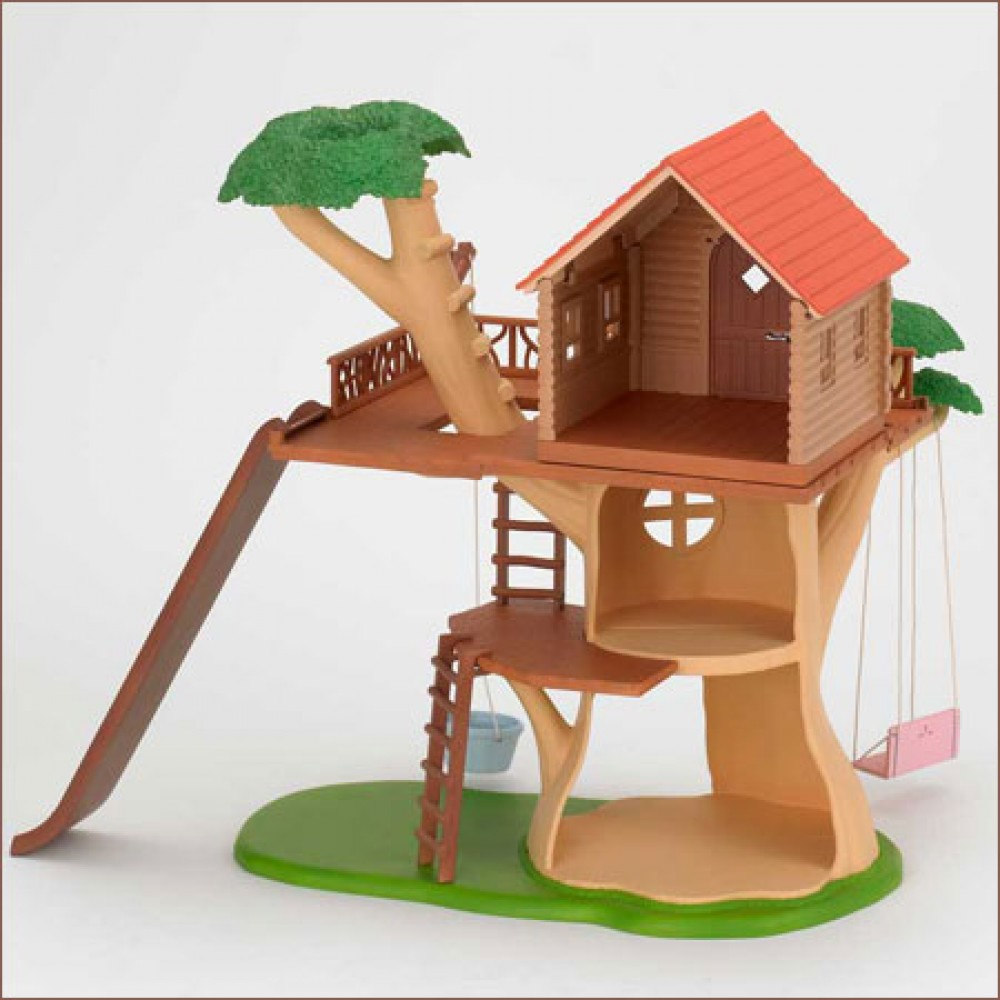 Sylvanian families calico critters tree house ko 53 from for Arbre maison jouet