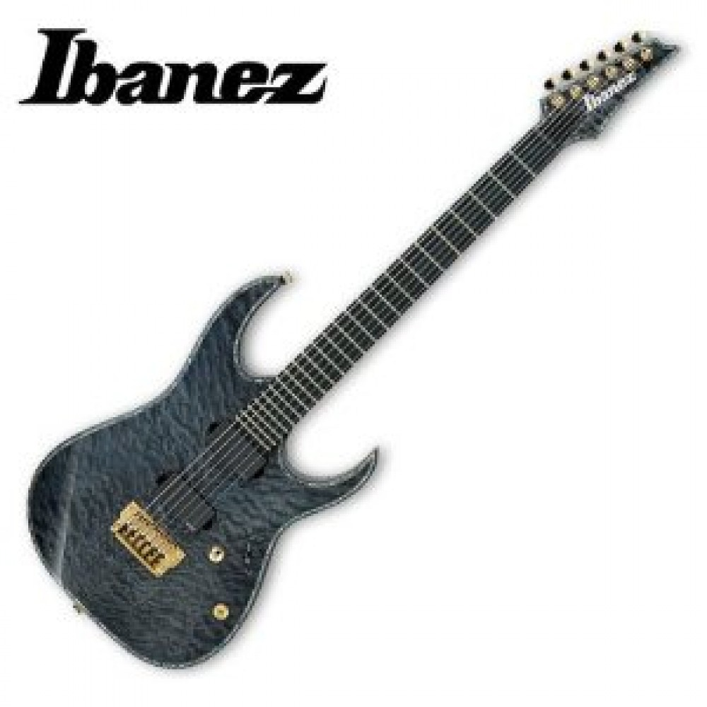 new ibanez electric guitar iron label metal rgix20feqm transparent gray japan ebay. Black Bedroom Furniture Sets. Home Design Ideas