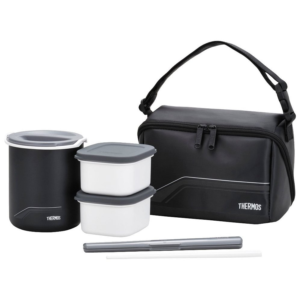 thermos heat insulation lunch box black dbq 501 bk free expedited shipping. Black Bedroom Furniture Sets. Home Design Ideas