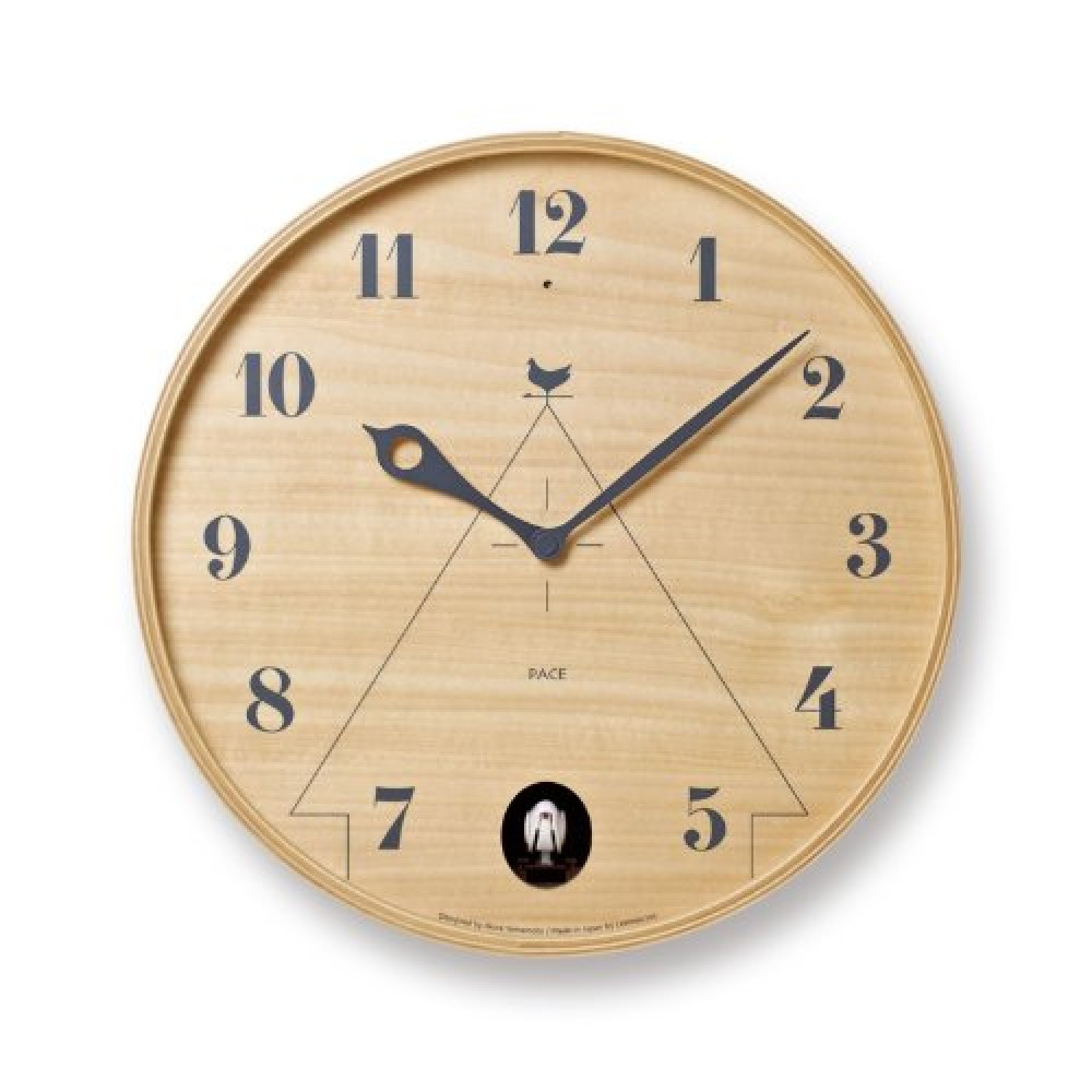new lemnos pace lc11 09 cuckoo wall clock 2 color from japan