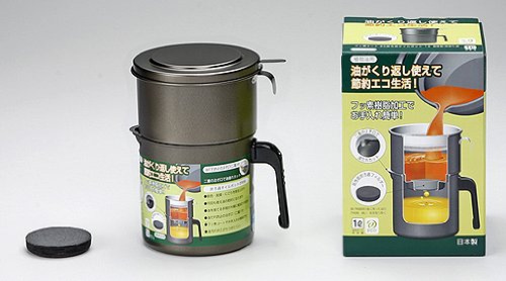 New cooking oil sumi strainer fluorinefilter coating use