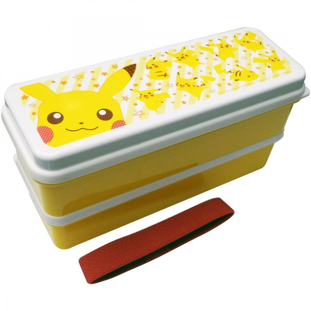 pokemon two stage lunch box 630ml with chopsticks pikachu pmlc180 bento ebay. Black Bedroom Furniture Sets. Home Design Ideas