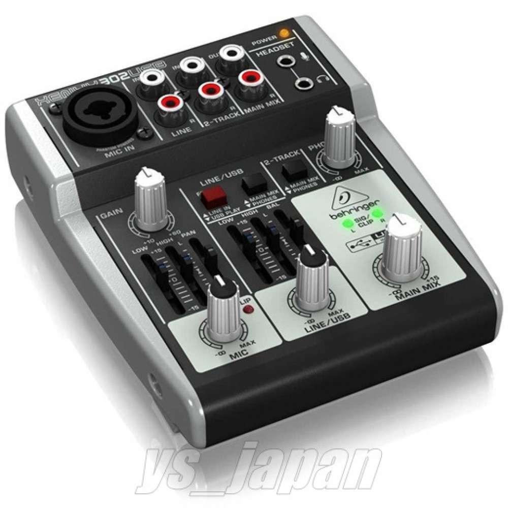 behringer xenyx 302usb 5 input mixer usb audio interface new from japan. Black Bedroom Furniture Sets. Home Design Ideas