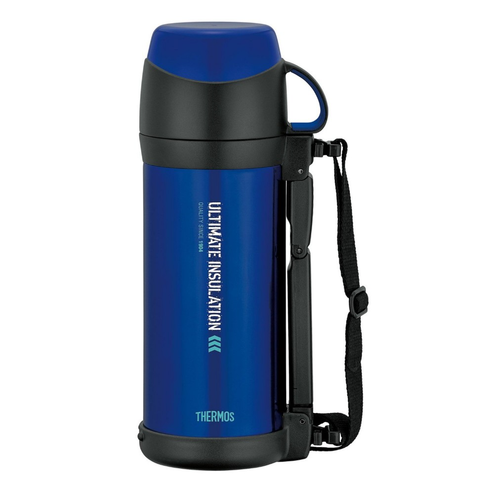 Stainless Steel Insulation : Thermos vacuum insulation stainless steel bottle blue l