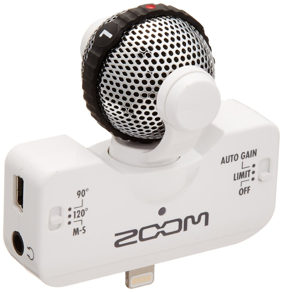 zoom iq5 white ms stereo microphone for iphone lightning connector type ebay. Black Bedroom Furniture Sets. Home Design Ideas