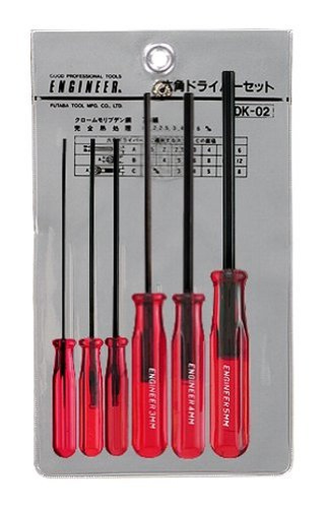 engineer inc hex screwdriver set 6 pcs dk 02 brand new best buy from japan ebay. Black Bedroom Furniture Sets. Home Design Ideas