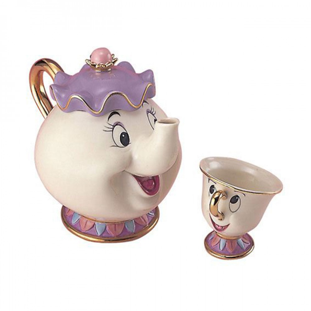 disney beauty and the beast mrs potts chip tea pot cup. Black Bedroom Furniture Sets. Home Design Ideas