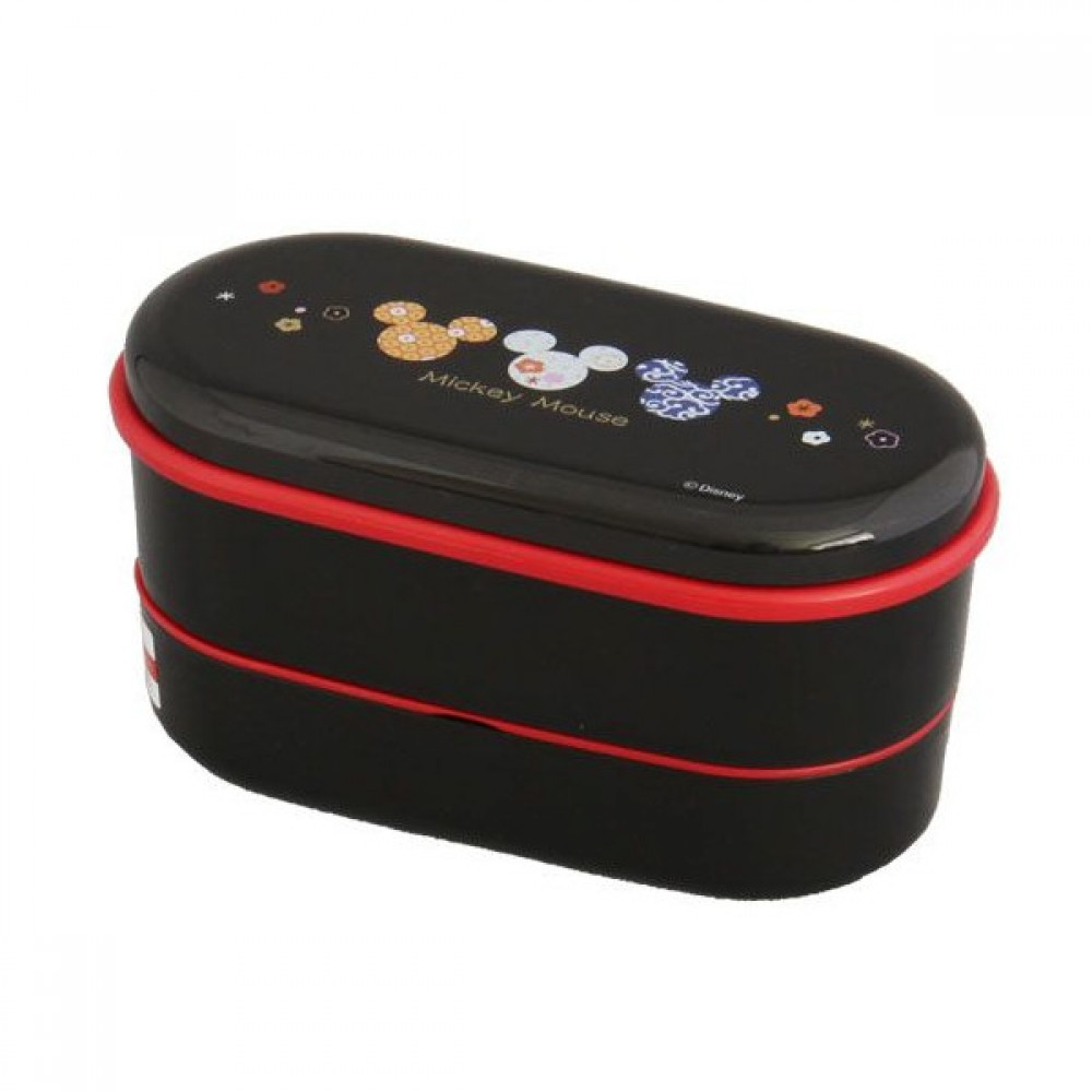 micky mouse two step lunch box 630ml japanese style bento box japan import f s ebay. Black Bedroom Furniture Sets. Home Design Ideas