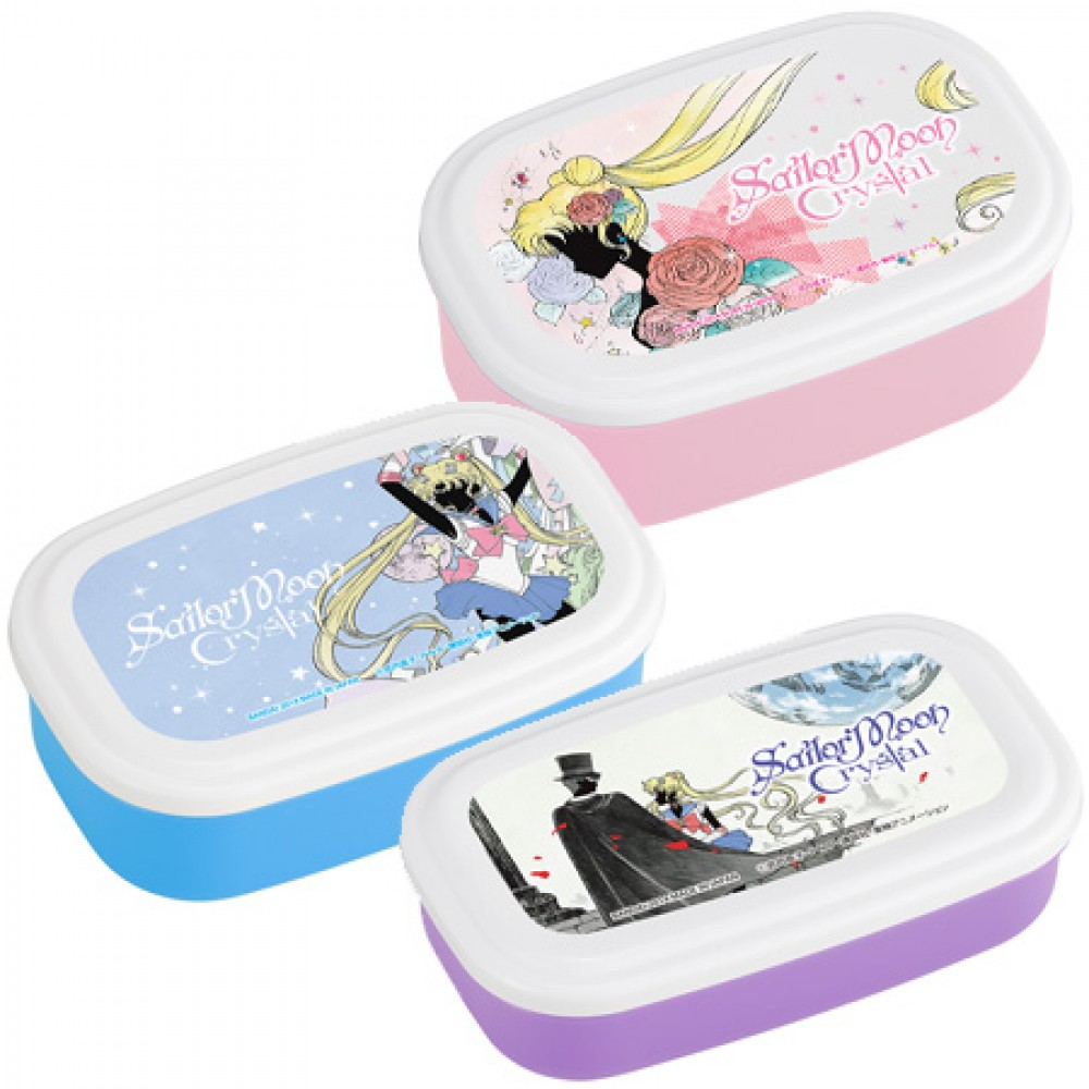 sailor moon crystal lunch bento box tupperware 3size set japan cute kawaii f s ebay. Black Bedroom Furniture Sets. Home Design Ideas