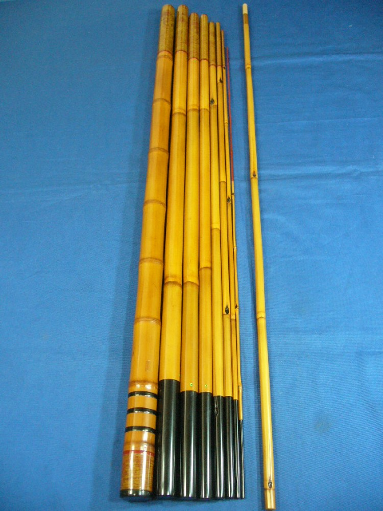 Work of art japanese hand made bamboo rod tokusyusai for Bamboo fishing poles