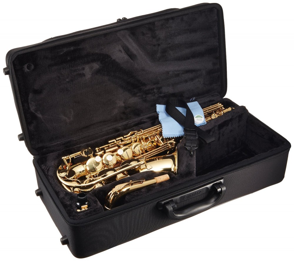 Yamaha yas 280 alto saxophone with case and mouthpiece for Yamaha trombone case