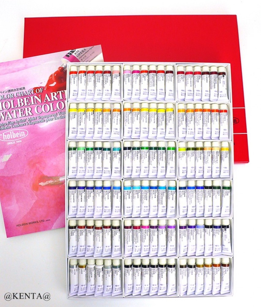 Holbein Artists Transparent Watercolor 108 Colors Set 5ml