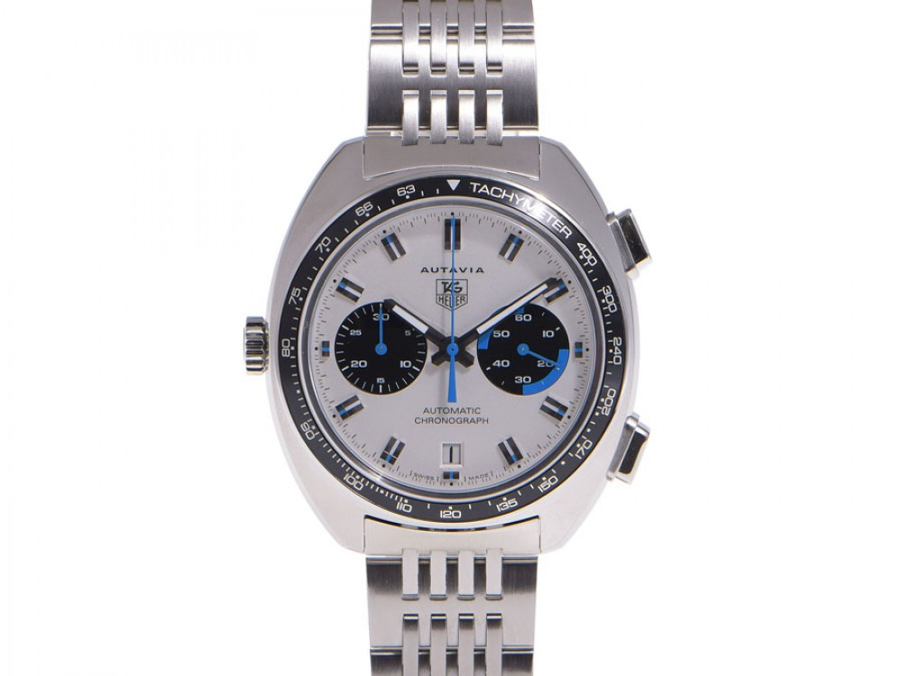 Tag heuer autavia siffert chronograph ref cy2110 men s stainless steel watch ebay for Tag heuer autavia