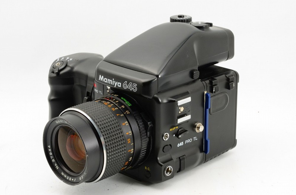 ex mamiya 645 pro tl with sekor c 55mm f2 8 ae finder w. Black Bedroom Furniture Sets. Home Design Ideas