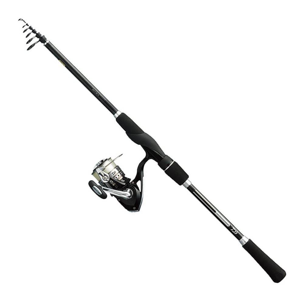 Daiwa all in one free style fishing dv1 telescopic rod for Free line fishing
