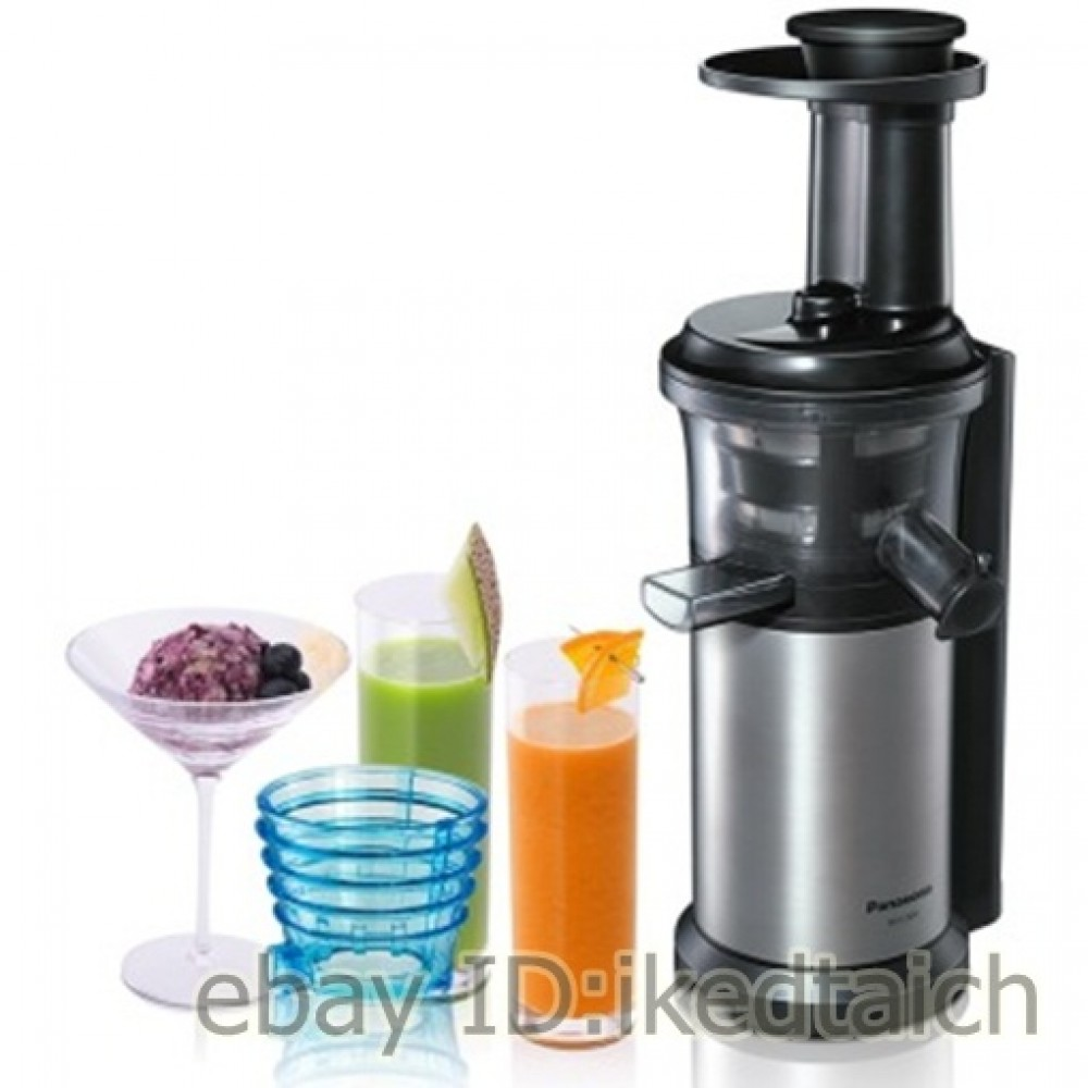 Panasonic Slow Juicer Mj L500 Rezepte : Panasonic vitamin server slow juicer Silver MJ-L500-S JAPAN EMS eBay