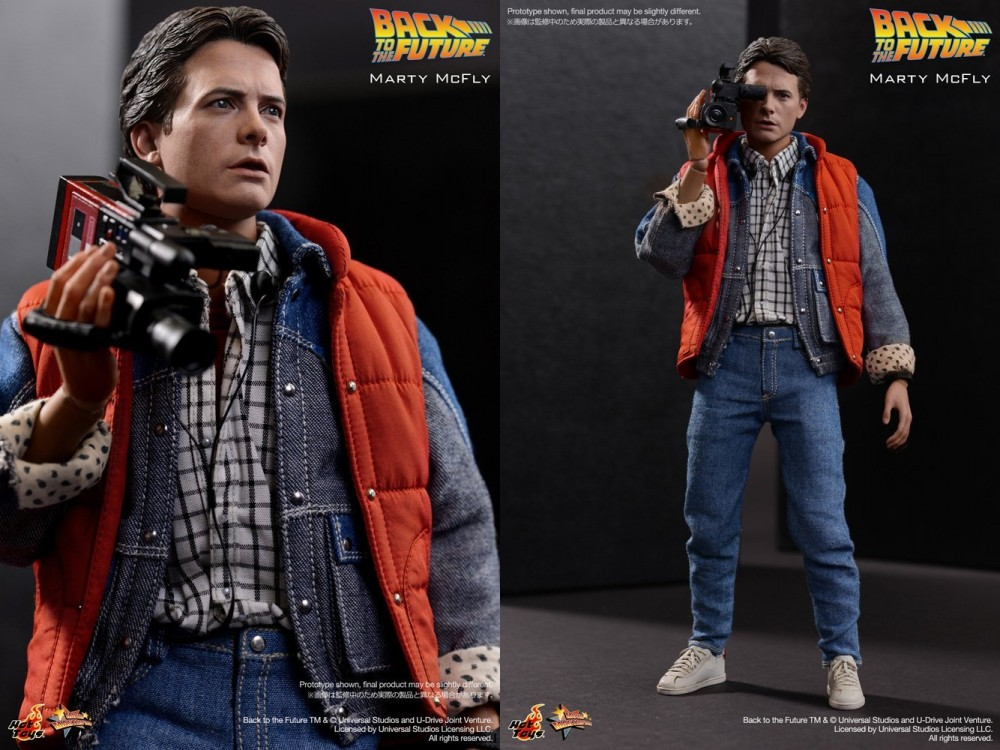 new hot toys movie master piece back to the future marty mcfly 1 6 action figure ebay. Black Bedroom Furniture Sets. Home Design Ideas