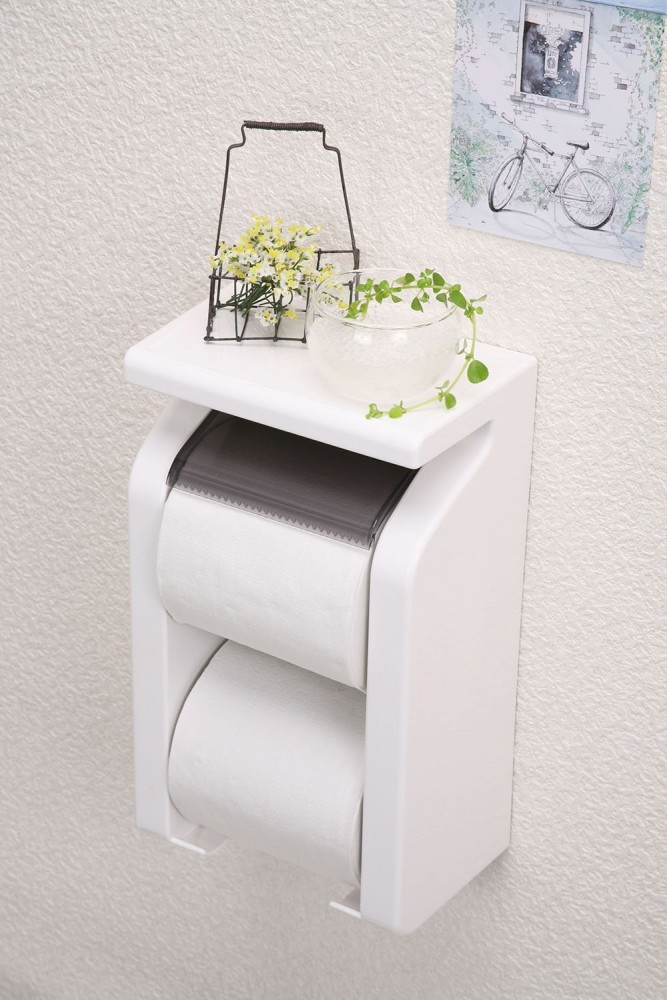 Toilet Paper Tissue Holder Wall Mounted With Storage GR New F S Japan Import