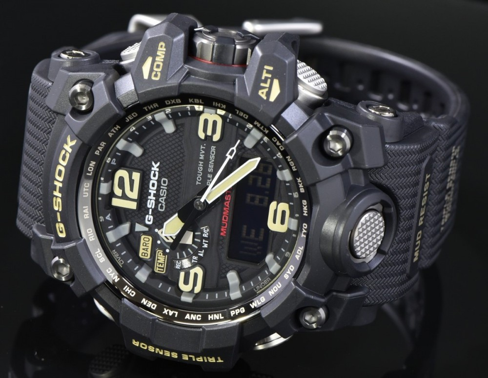 NEW Casio G-SHOCK MUDMASTER Tough Solar Triple Sensor ...