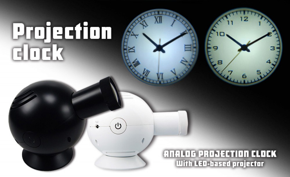 Detail Projection Clock Roman Projector Wall Clock Led