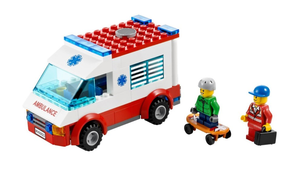 New lego city 60023 starter set ambulance fire truck ebay - Lego ambulance ...