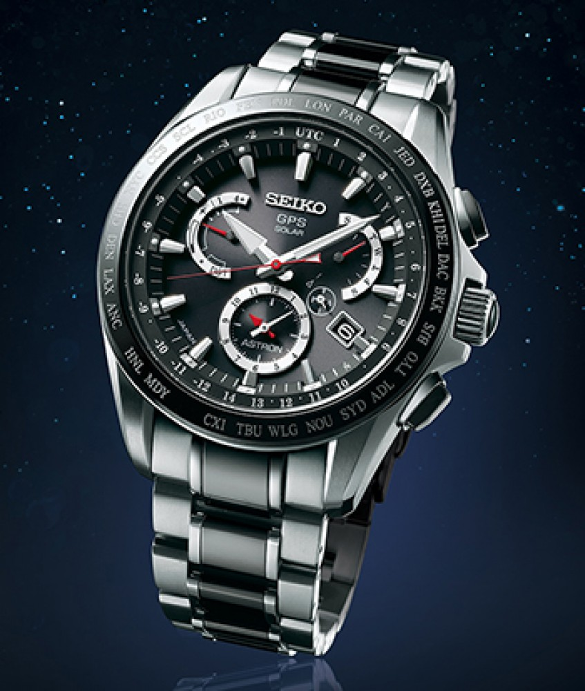 New Seiko Astron GPS Solar Men's Watch ...