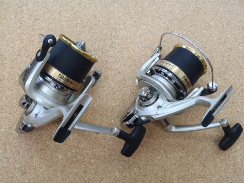 Daiwa fine surf 35 surf cast dedicated spinning reel fine for Surf fishing reel