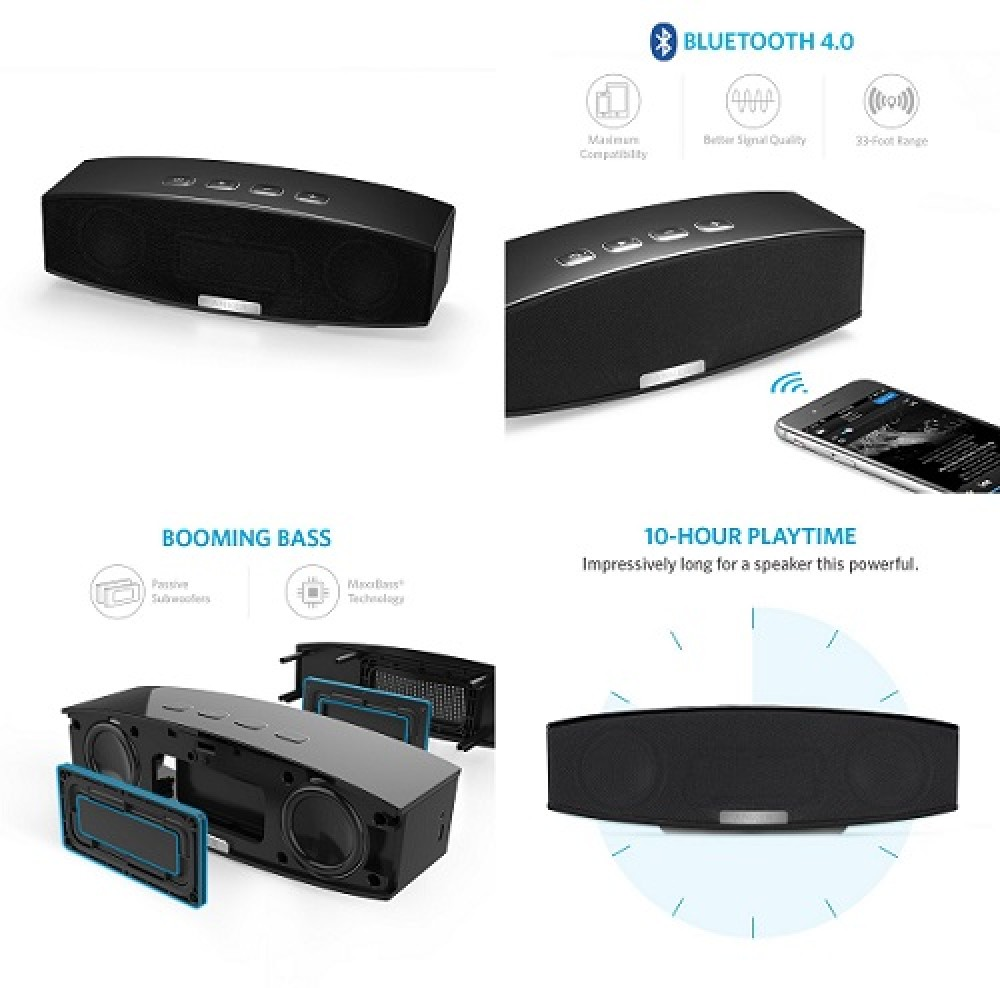 Anker Bluetooth Speaker Fm Radio Bluetooth Usb Cable Replacement Ihealth Blood Pressure Monitor Troubleshooting Lg Bluetooth Headset For Phone: Anker Premium Stereo Speakers Bluetooth 4.0 (A3143) 20W