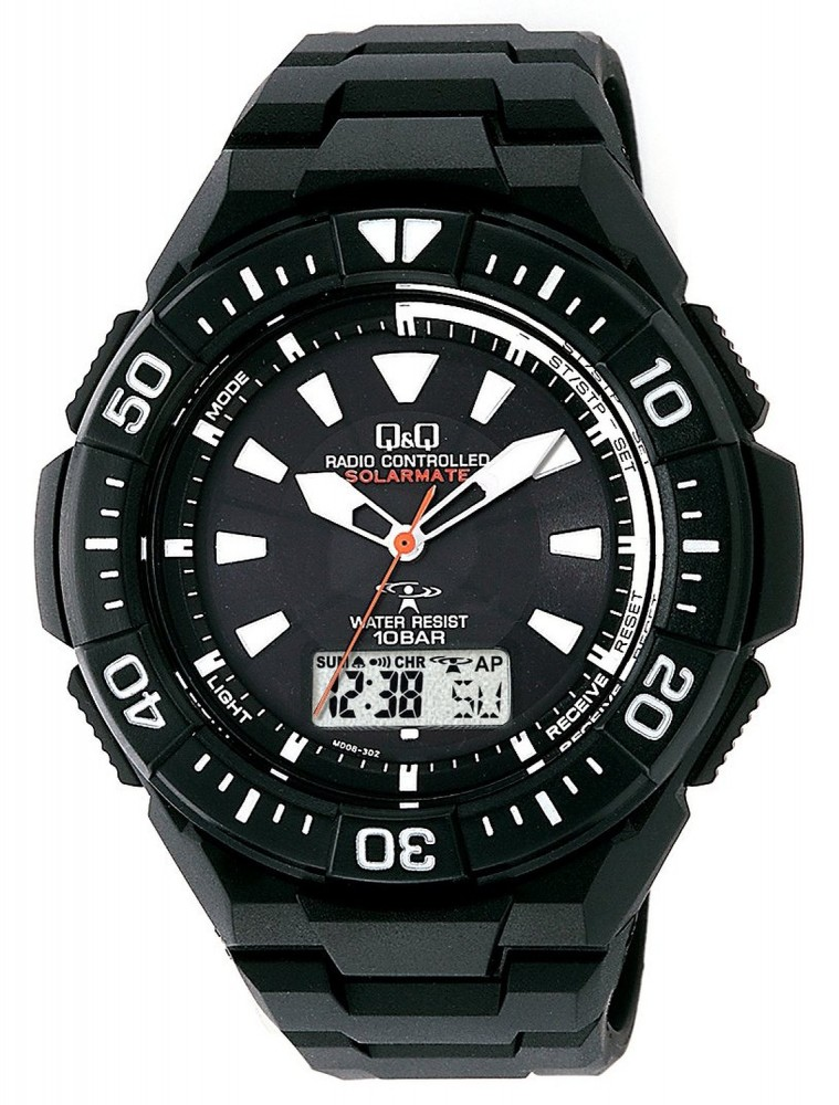 Citizen q q solarmate radio wave solar watches 10bar md06 335 for men 1000 ebay for Q q watches