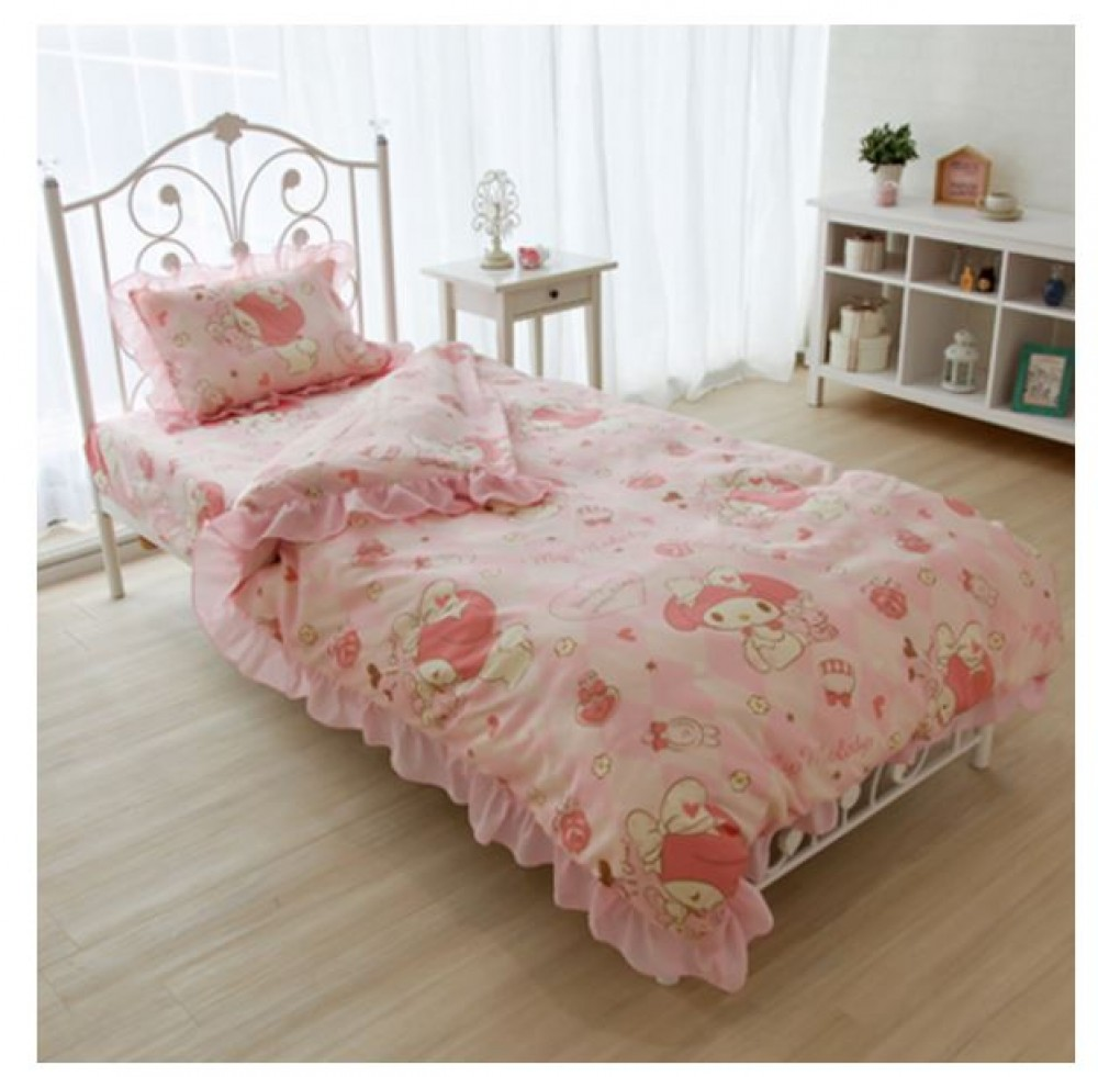 Sanrio My Melody Bed Bedding Cover Pillow Sheets 3pcs Set