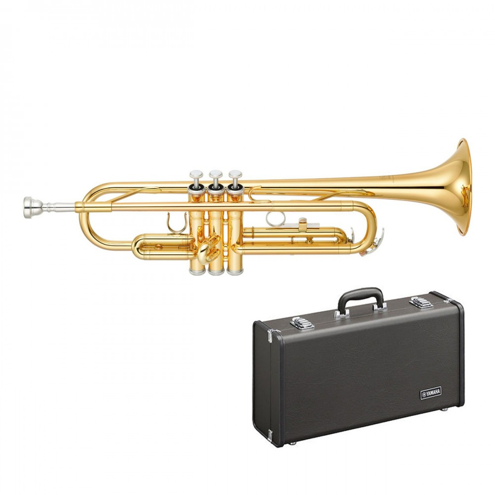 new yamaha ytr 2330 bb trumpet with hard case and mouthpiece