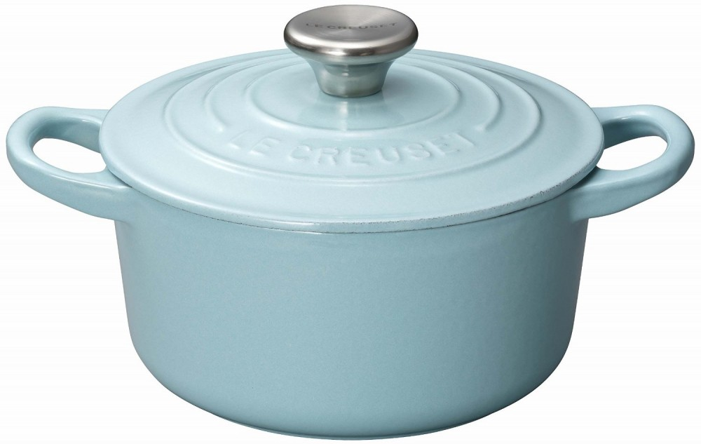 le creuset cocotte ronde 14cm satin blue 2101 14 77 new. Black Bedroom Furniture Sets. Home Design Ideas