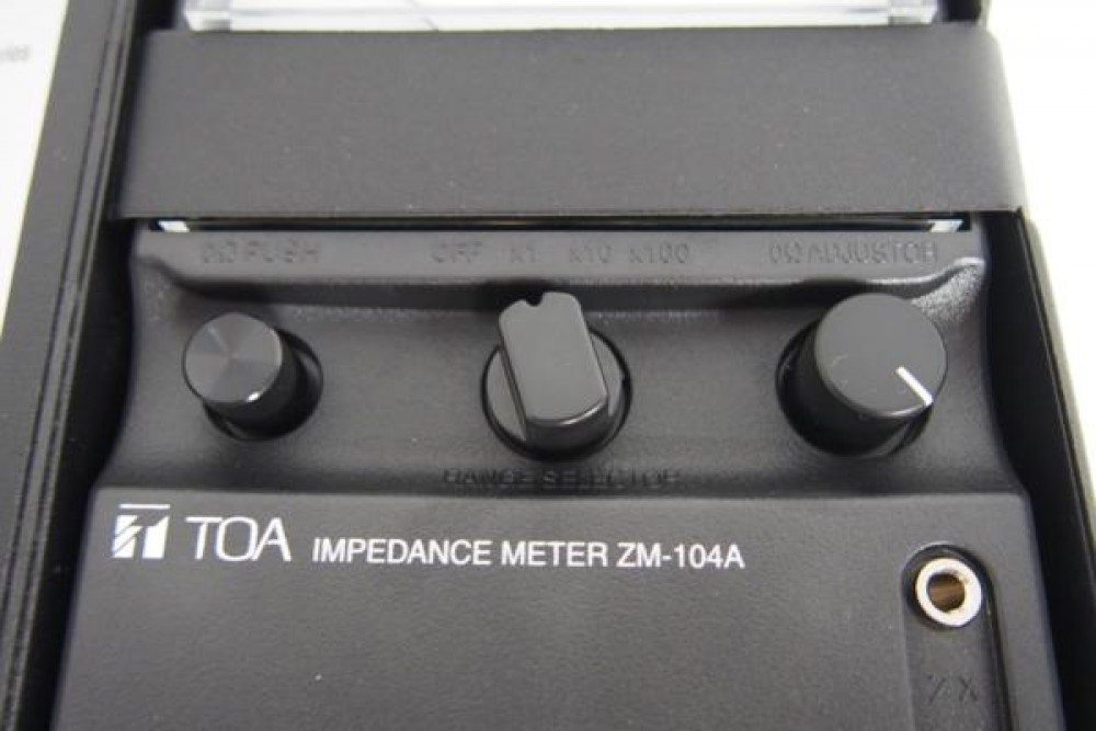 toa zm 104 impedance meter manual