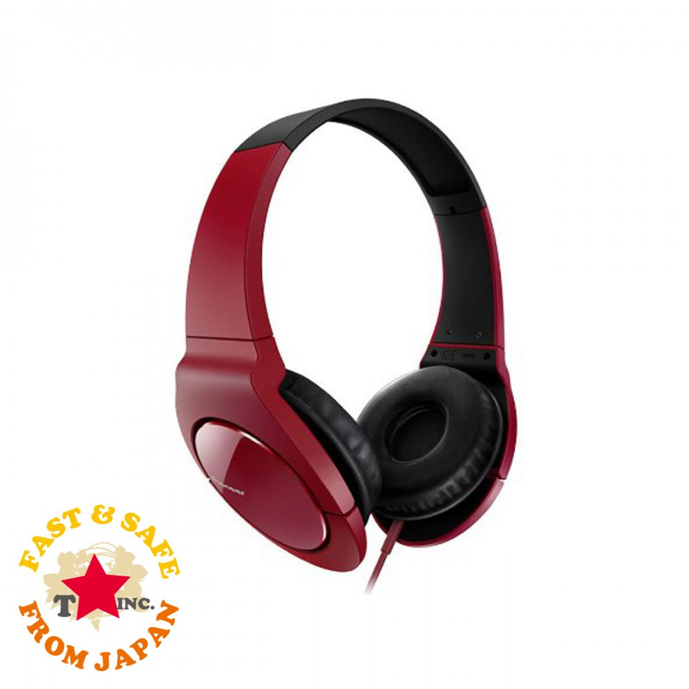 NEW Pioneer BASS HEAD Headphone SE-MJ721-R Red From JP
