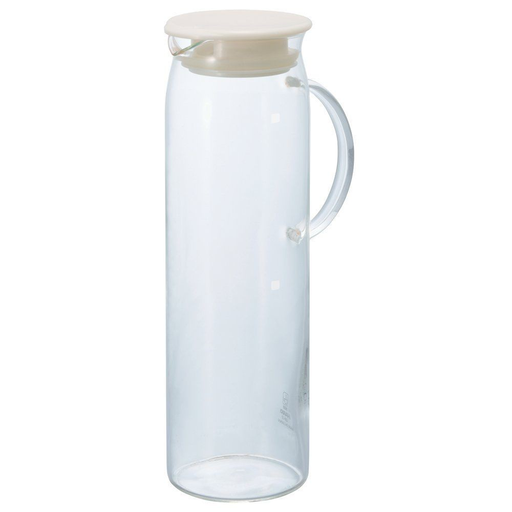 Hario heat resistant glass water pitcher with lid 1000ml hdp 10pw japan f s ebay - Heat proof pitcher ...