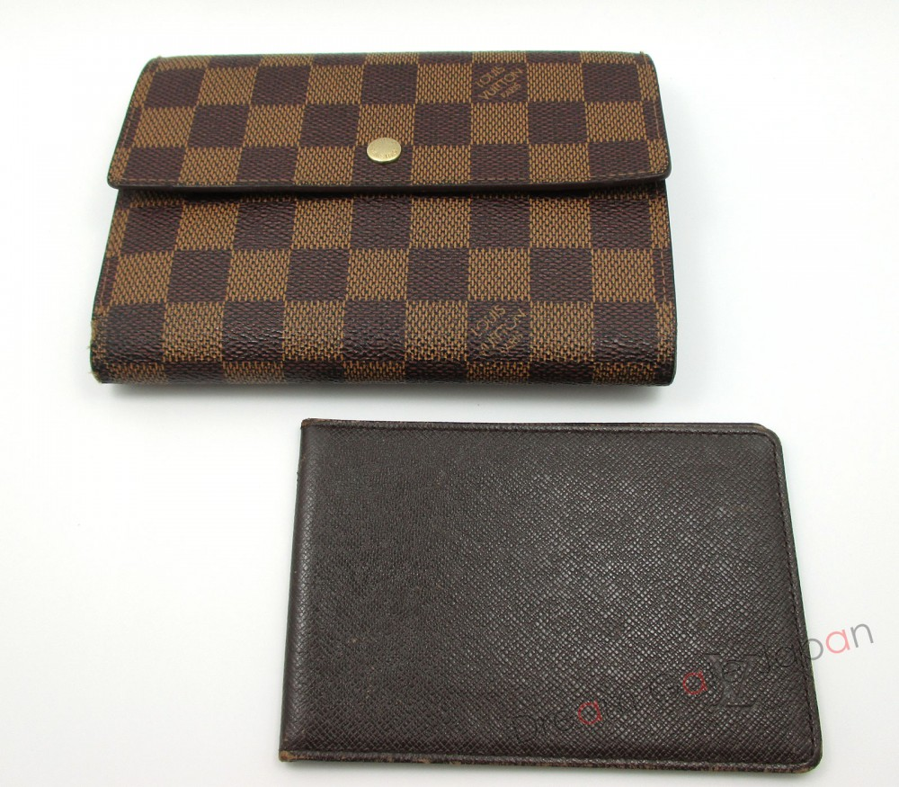 auth louis vuitton damier porte tresor etui papiers. Black Bedroom Furniture Sets. Home Design Ideas