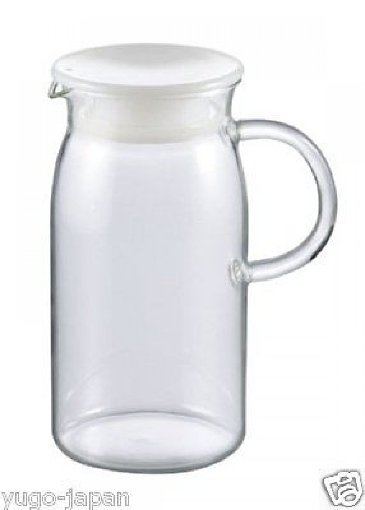 Iwaki heat resistant glass jug pitcher with white lid 600ml f s k293 w ebay - Heat proof pitcher ...