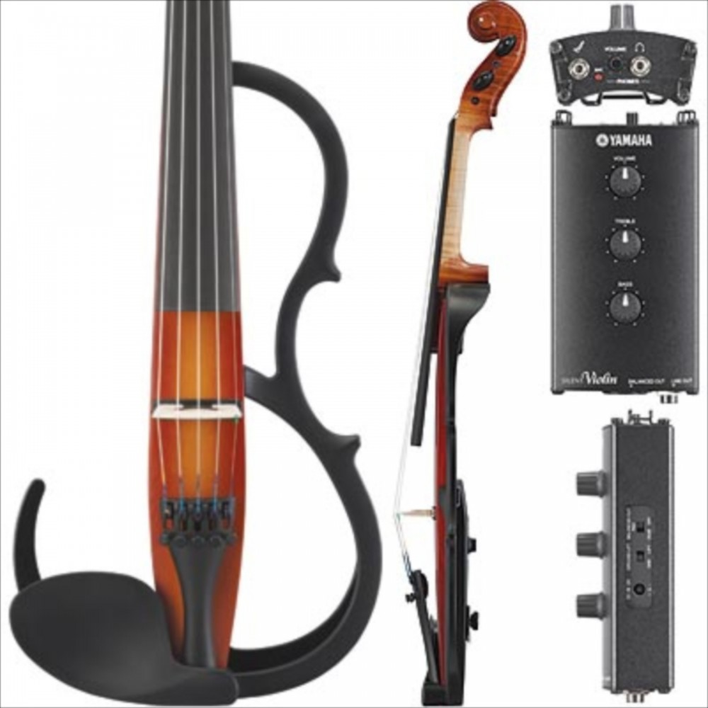 New yamaha silent electric violin sv255 brown 5 string for Yamaha svc 110sk silent electric cello brown