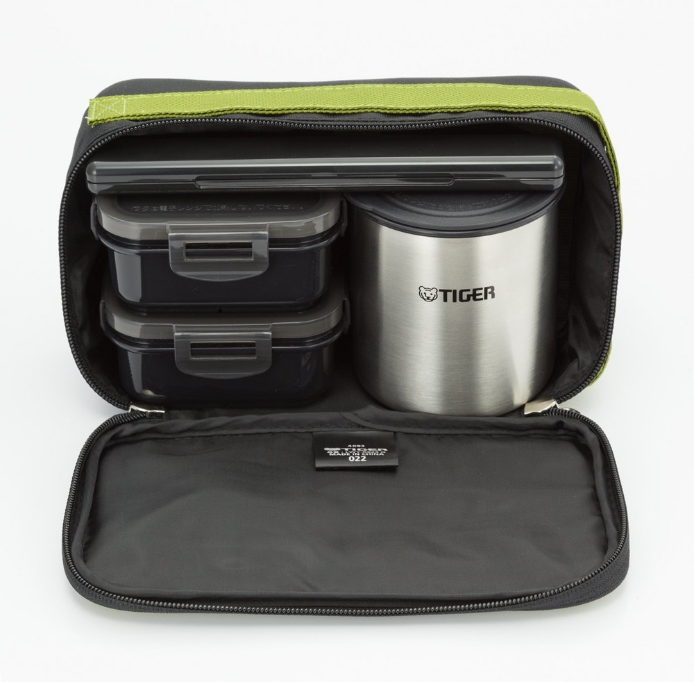 tiger stainless steel thermal lunch box jar bento set with bag green lwy r024 g ebay. Black Bedroom Furniture Sets. Home Design Ideas
