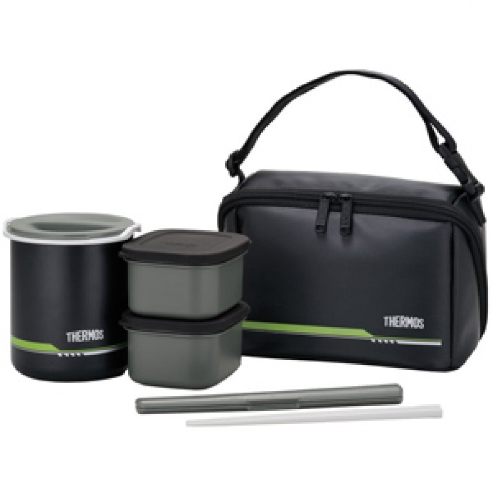 thermos thermal heat insulation lunch box container chopsticks set dbq 502mtbk ebay. Black Bedroom Furniture Sets. Home Design Ideas