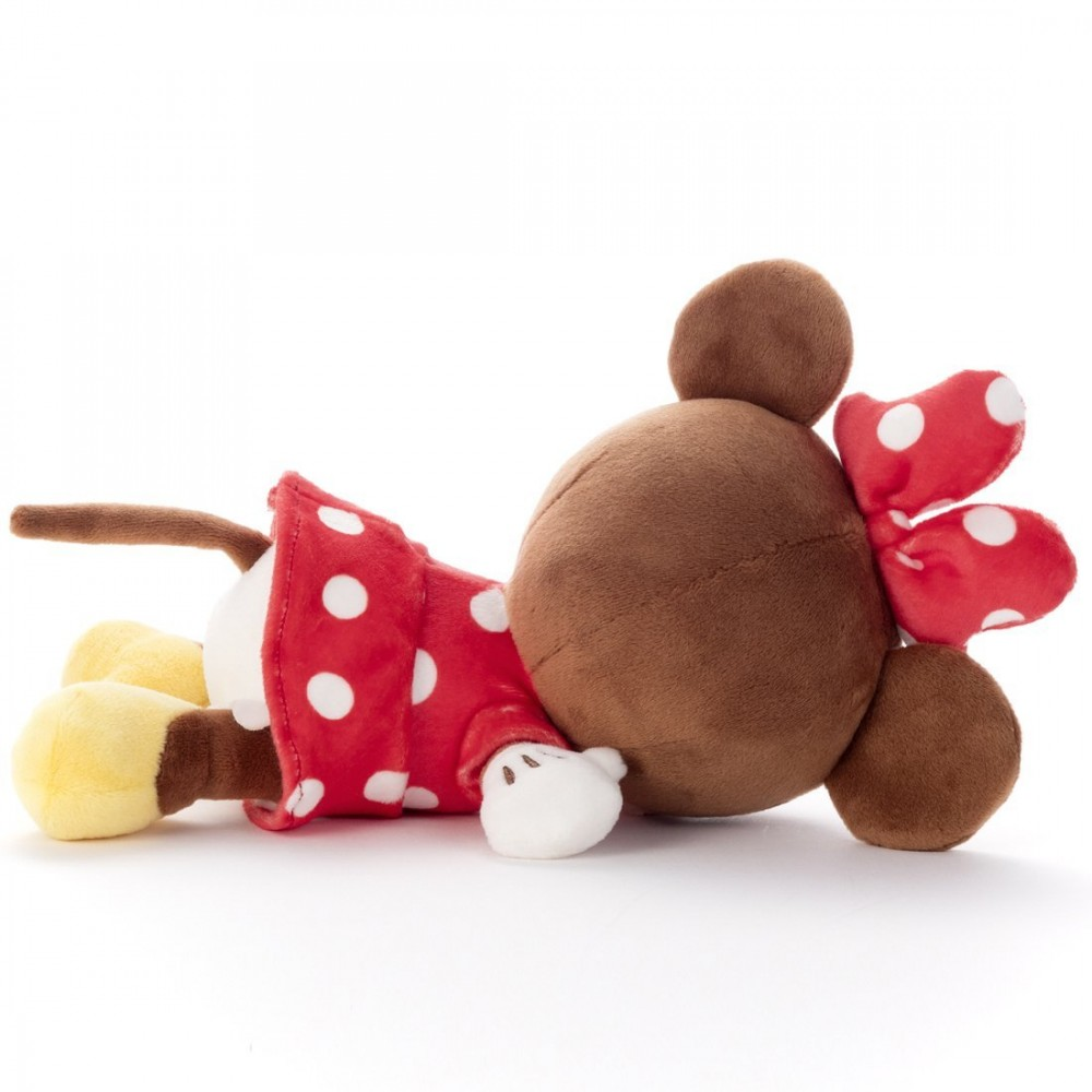 Japanese Plush Toys : Disney minnie mouse stuffed toy plush sleeping suyasuya