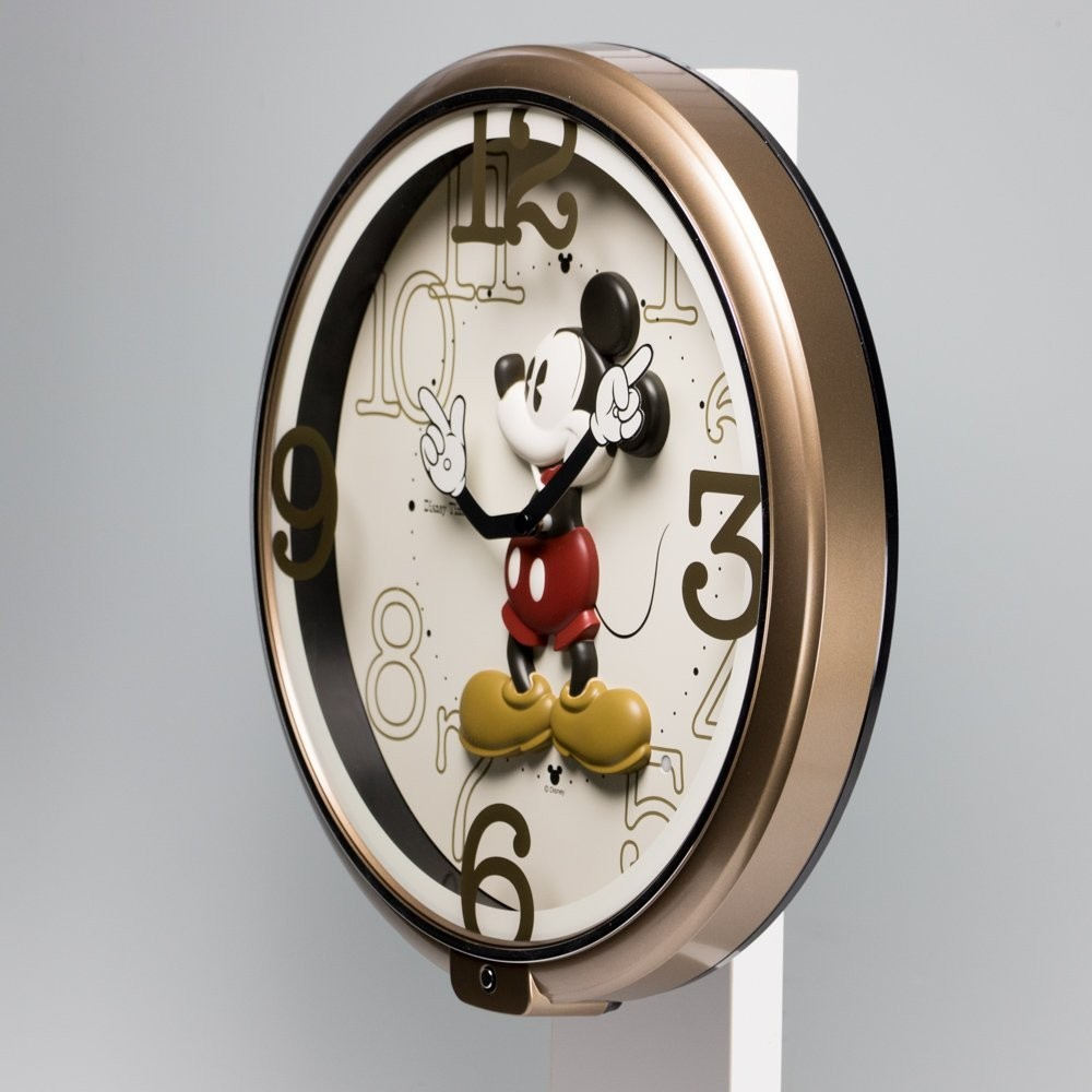 New Seiko Clock Disney Mickey Mouse Wall Clock Brown