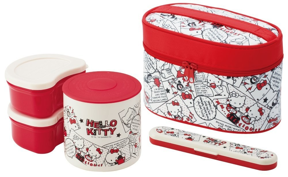 new thermal lunch box bento bowl container set keep warm hello kitty comic japan ebay. Black Bedroom Furniture Sets. Home Design Ideas