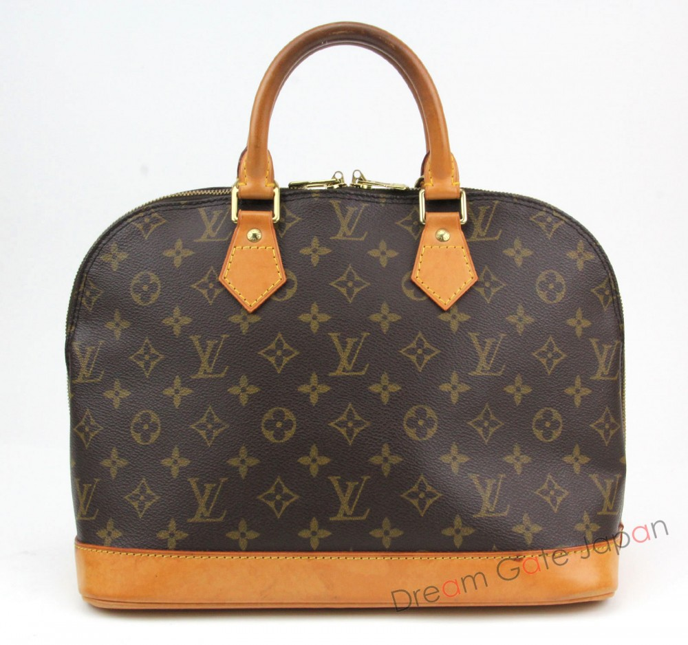 sale authentic louis vuitton alma m51130 monogram hand bag lv purse 3320 ebay. Black Bedroom Furniture Sets. Home Design Ideas