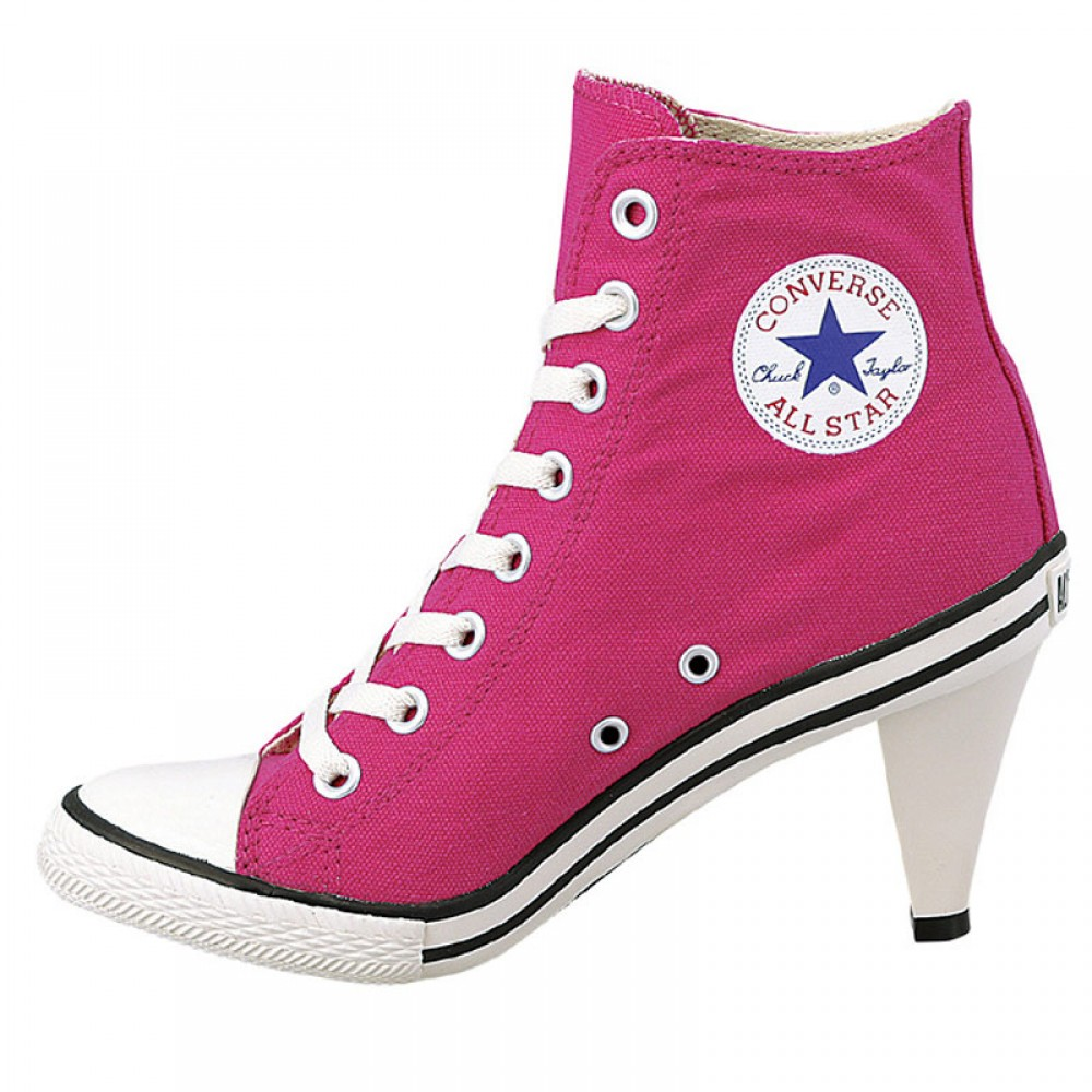 Converse Style High Heel Shoes