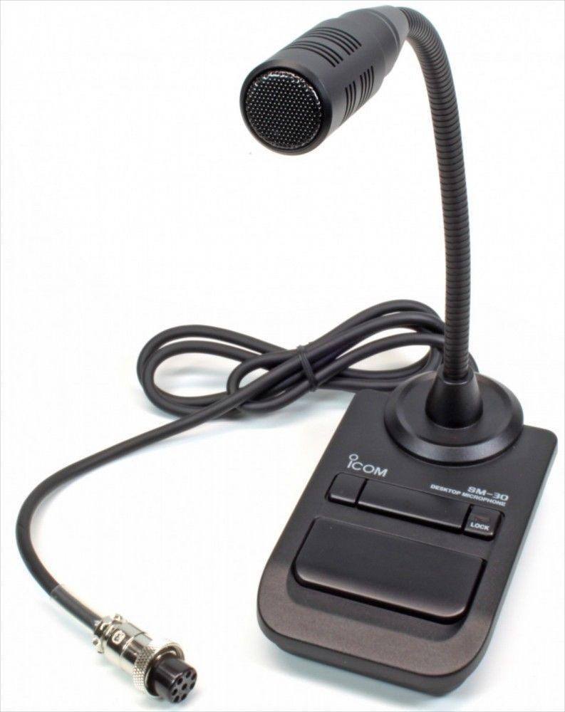 brand new icom sm desktop microphone desktop microphone icom sm 30 desktop microphone desktop microphone tracking number